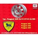 1 Stk. Alufelge Peugeot 205 306 309 6x15 ET19 4x108