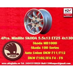 1 pc. Skoda Minilite 5.5x13 ET23 4x130 Wheel