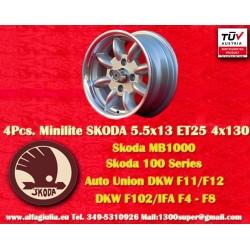 1 pz. llanta Minilite Skoda 5.5x13 ET23 4x130