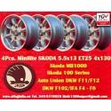 4 pcs. wheels Skoda 5.5x13 ET23  4x130