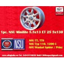 1 pc. NSU 5.5x13 ET25 5x130 wheel