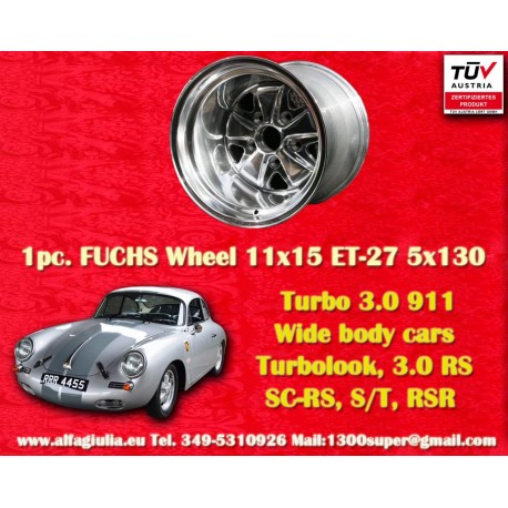 Porsche 911 11x15 ET-27 5x130 full polished
