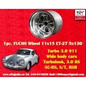 1 pc. Porsche 911 11x15R ET-27 5x130 full polished wheel