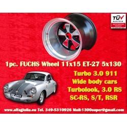 1 pc. Porsche 911 RSR 11x15R ET-27 5x130 wheel