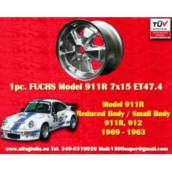 1 pc. Fuchs Porsche 911R Small Body 7x15 ET47.4 full polished wheel