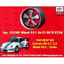1 Stk. Felge Porsche 911 Fuchs RSR 6x15 ET36 5x130