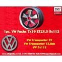 1 Stk Felge Volkswagen T2 T3 Fuchs 7x16 ET23.3 5x112