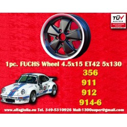 1 pc. Porsche 356C, 911, 912, 914-6 Fuchs 4.5x15 ET42 5x130 wheel