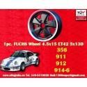 1 pc. cerchio Porsche 356C, 911, 912, 914-6 Fuchs 4.5x15 ET42 5x130