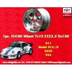 Porsche 911 Fuchs 7x15 ET23.3 5x130 full polished