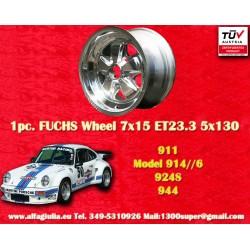 Porsche 911 Fuchs 7x15 ET23.3 5x130 poliert