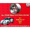 1 pz. Llanta Porsche 911 Fuchs 7x15 ET23,3 5x130 full polished