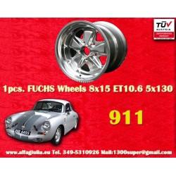 1 pc. cerchio Porsche 911 Fuchs 8x15 ET10.6 5x130 full polished