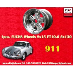 Porsche 911 Fuchs 8x15 ET10.6 5x130 full polished