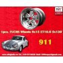 1 pc. Porsche 911 Fuchs 8x15 ET10.6 5x130 full polished wheel
