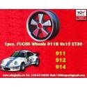 1 pz. llanta Porsche Fuchs 6x15 Deep Six 5x130 ruedas ET36 RSR Style