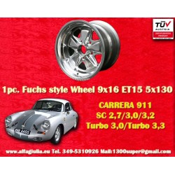 1 pc. cerchio Porsche 911 Fuchs 9x16 ET15 5x130 full polished