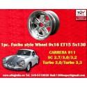 1 pc. Porsche 911 Fuchs 9x16 ET15 5x130 full polished wheel