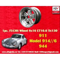 1 pz. llanta Porsche 911 Fuchs 8x16 ET10.6 5x130 full polished