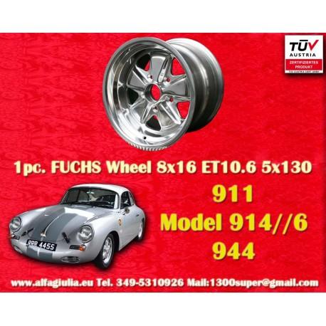 Porsche 911 Fuchs 8x16 ET10.6 5x130 vollpoliert