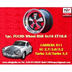 1 pc. Porsche 911 Fuchs 8x16 ET10.6 RSR Style wheel