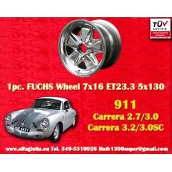 1 pc. cerchio Porsche 911 Fuchs 7x16 ET23.3 5x130 full polished