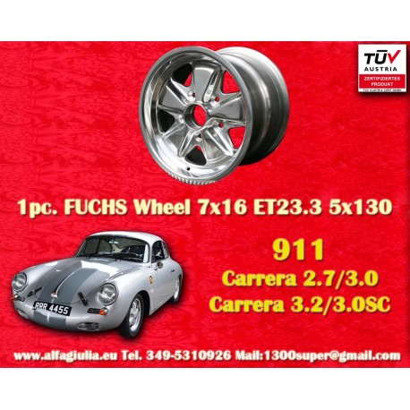 Porsche 911 Fuchs 8x15 ET10.6 5x130 poliert