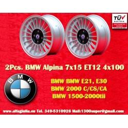 2 pz. Llantas BMW Alpina 7x15 ET12 4x100