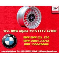1 Stk. Felge BMW Alpina 7x15 ET12 4x100