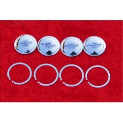1 set di 4 borchiette centrali Campagnolo Modello C54 per Cerchi Lega diam. 54 mm