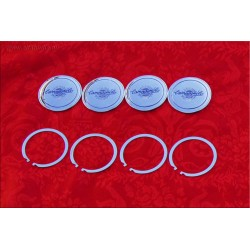 1 Set (4 pcs) of Campagnolo C47 model center caps (diameter 47.4mm) for lightweight alloy wheels
