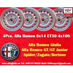 4 pcs Alfa Romeo 6x14 ET30 4x108