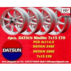 4 pcs. Datsun Minilite  7x15 ET0 4x114.3