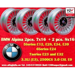 Wheels BMW  Alpina 2 pcs. 7x16 ET11 + 2 pcs. 8x16 ET24