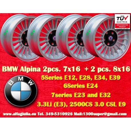 Wheels BMW  Alpina 2 pcs. 7x16 ET11 + 2 pcs. 8x16 ET24