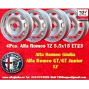 4 Cerchi Alfa Romeo Tecnomagnesio Style TZ 115/105 Giulia GT  5.5x15 ET23 4x108