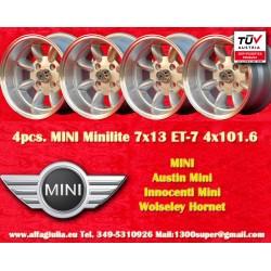 4 pcs. cerchi Mini 7x13 ET-7 4x101.6