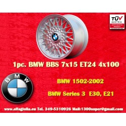 BMW Series 3, E21, E30 BBS X Spoke 7x15 ET24 4x100