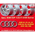 4 Cerchi Audi A3 A4 A6 100 200 T3/T4 7.5x17 5x112 TÜV