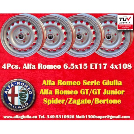 4 pcs  Alfa Romeo Giulia 6 5x15 ET17 4x108 wheels - AlfaGiulia World