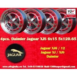 4 pcs. Llantas Jaguar Daimler 6x15 Jaguar XJ6/12 XJS