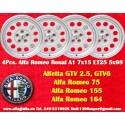 4 Cerchi in Lega Leggera Ronal A1 7Jx15 ET25 5x98 style per Alfa Romeo